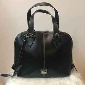 Dooney & Bourke black vintage leather handbag